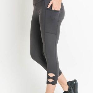 MONO B Charcoal Bow Workout leggings